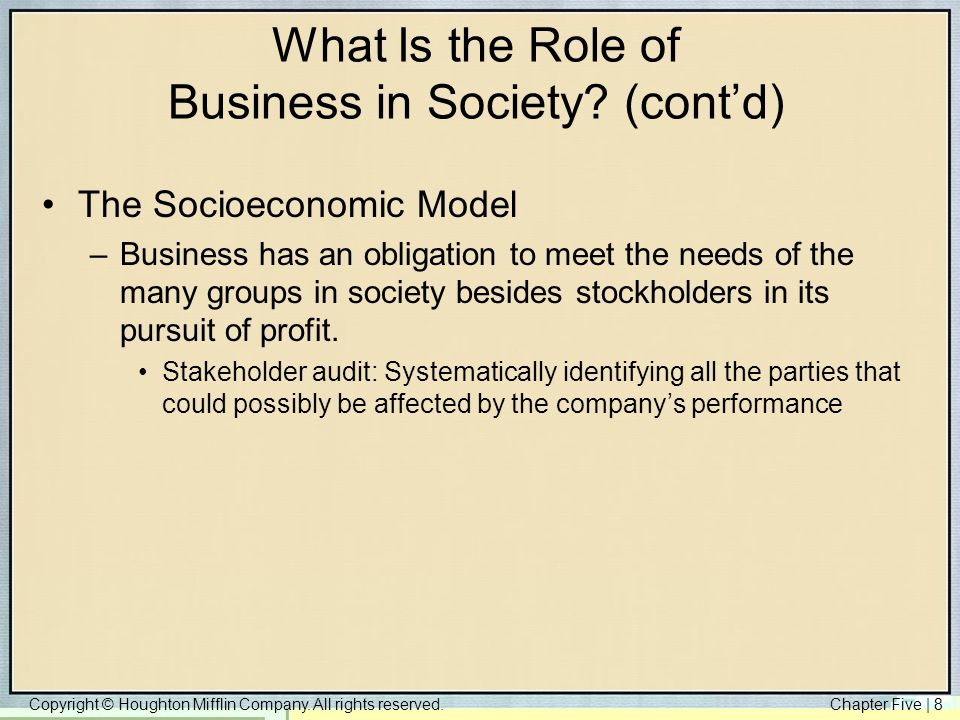 business and its role in society We all know that law is very important in the society it is a must in order for a society to be peaceful and problem-free law is a man-made therefore it is in you if you will follow it or not.