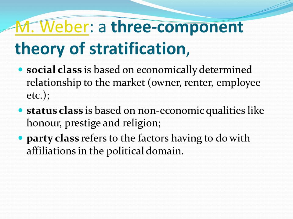 Classical Theories of Social Stratification