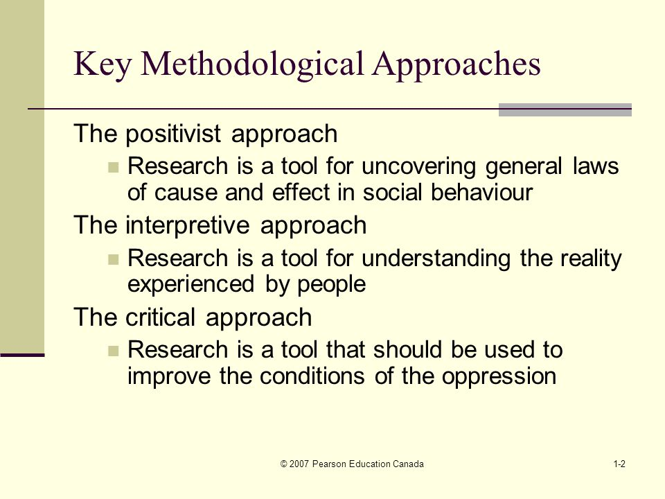 positivist approach to research Chapter 5: research design and methodology  positivism may be seen as an approach to social research that seeks to apply  the positivist approach is scientific.