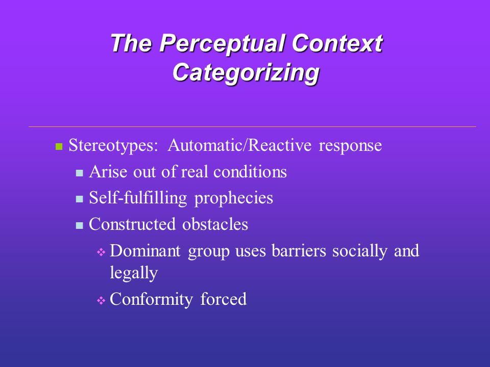 the influence of context and perceptual Binocular rivalry is a type of perceptual rivalry  which stimulus factors influence perceptual dominance 3)  in this context effect,.