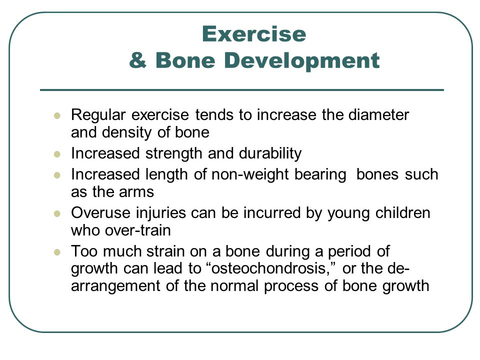 what is the relationship between bone density and weight bearing exercise