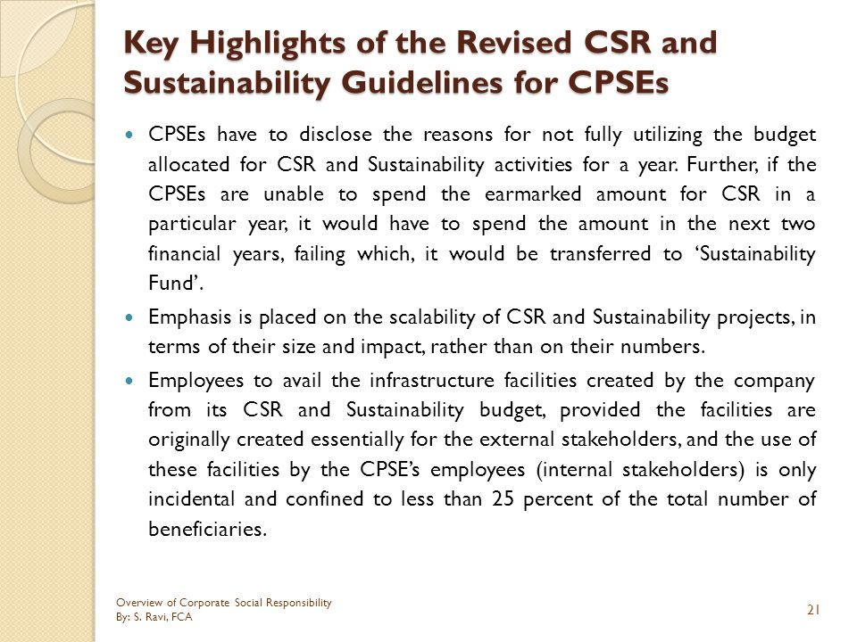 Key Highlights of the Revised CSR and Sustainability Guidelines for CPSEs