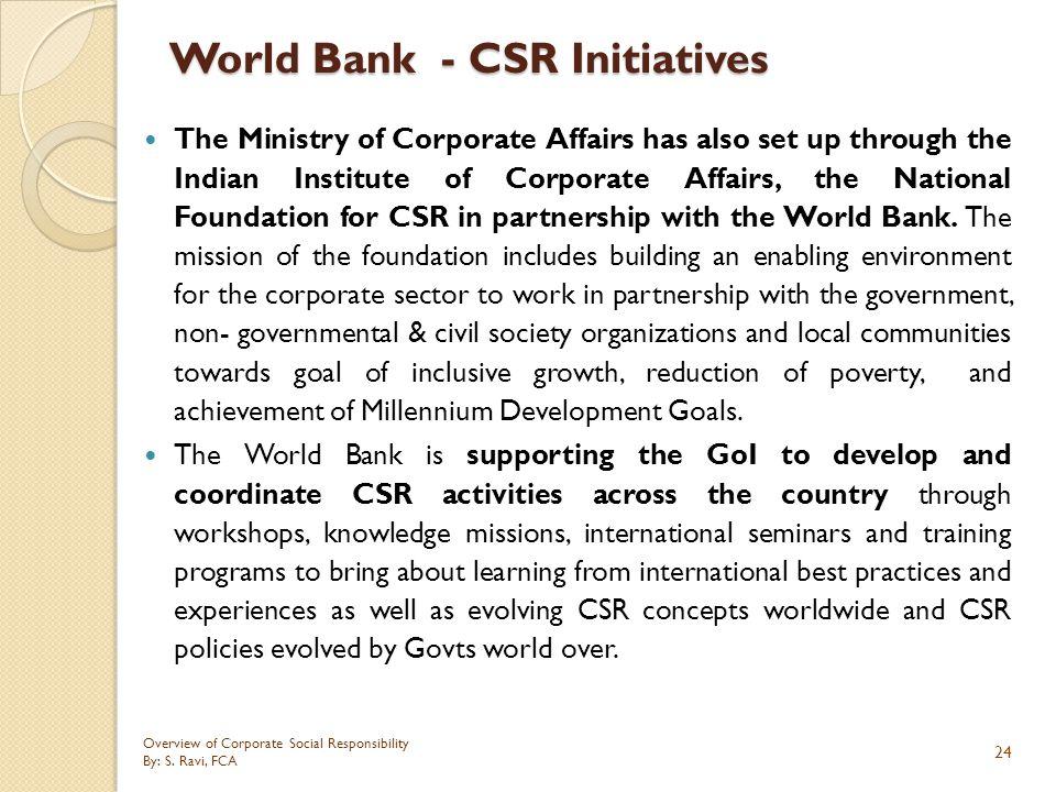 World Bank - CSR Initiatives