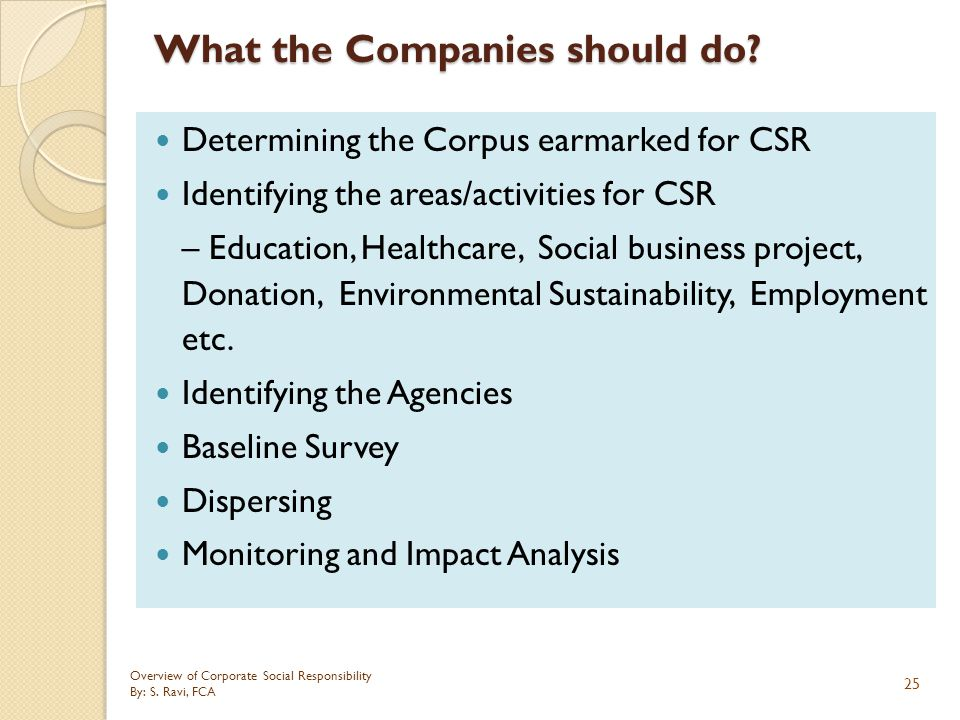 What the Companies should do
