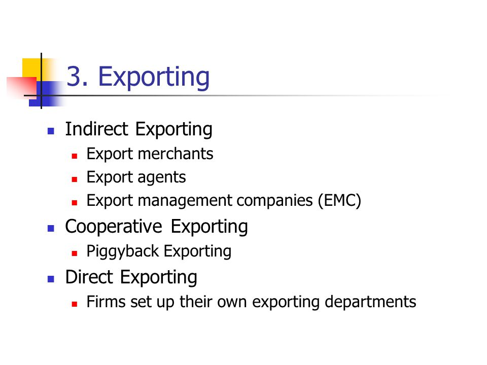 direct and indirect exporting pdf