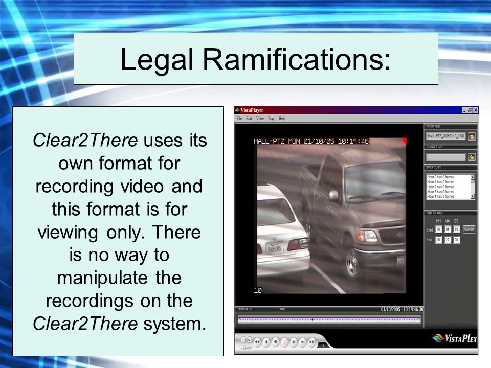 Legal Ramifications: