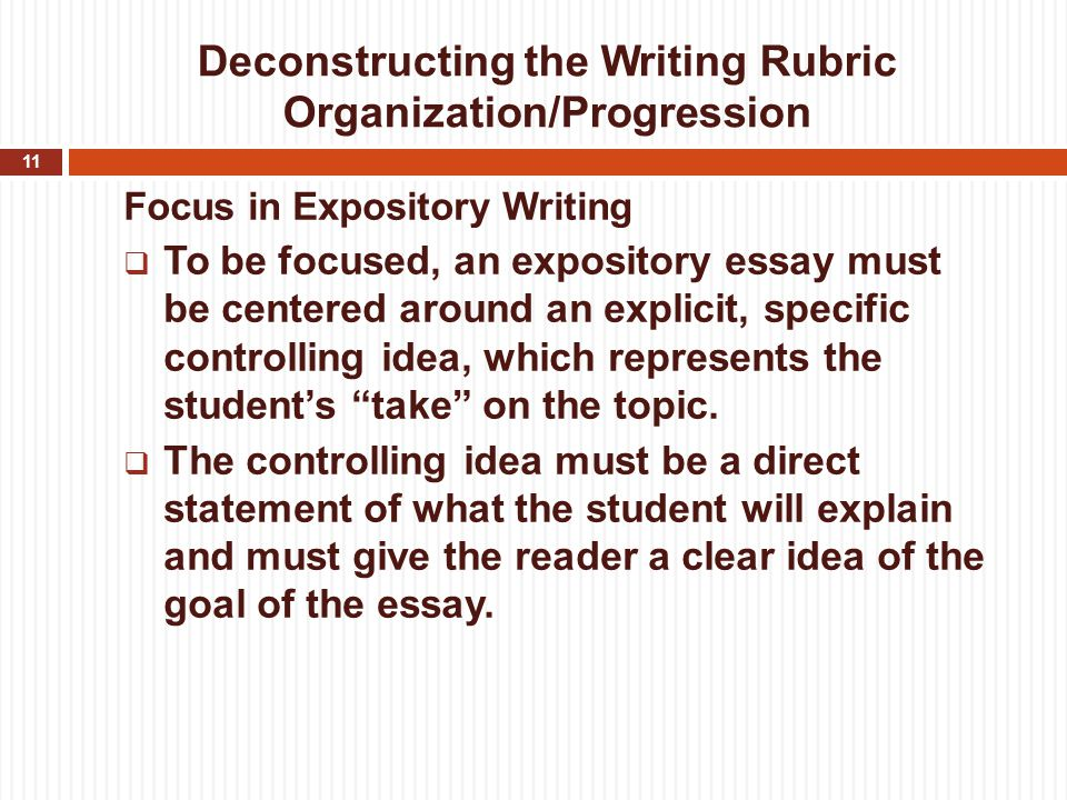 rubric for literature essay