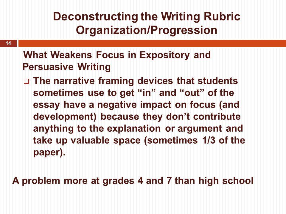 Essay rubric high school english