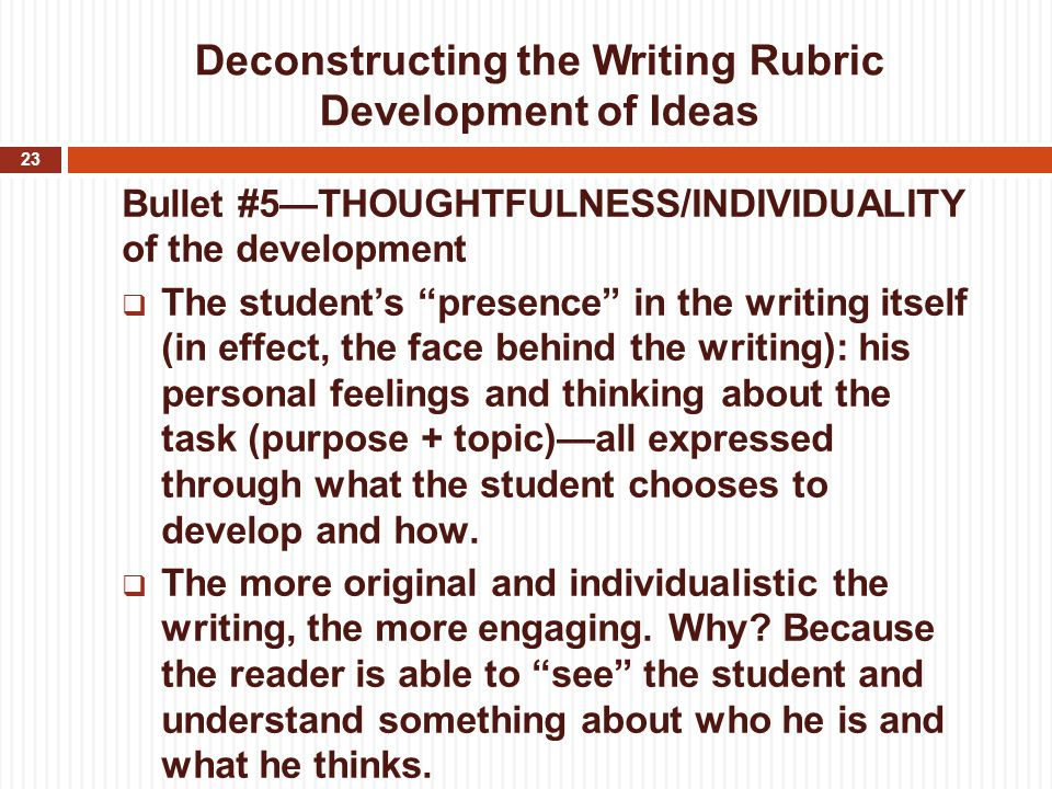 """essay writing rubrics for 8th grade These """"student-friendly"""" rubrics were created by teachers through a series of  professional development  quick scale grade 8 sl essays and opinions."""
