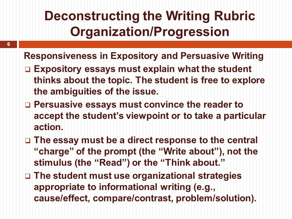 controlling idea unified essay