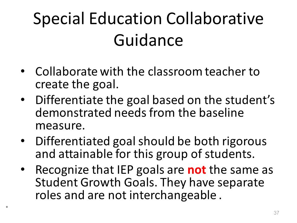 Special Education Collaborative Guidance