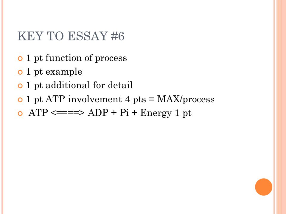 essay prompt ap bio question ppt key to essay 6 1 pt function of process 1 pt example