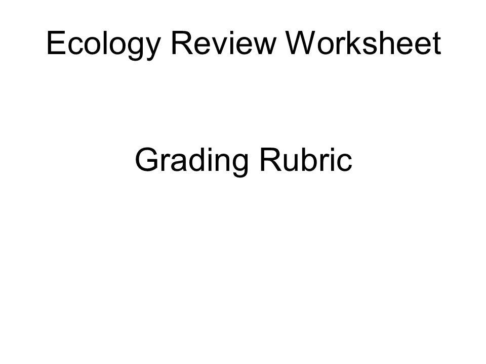ecology review worksheet ppt video online download. Black Bedroom Furniture Sets. Home Design Ideas