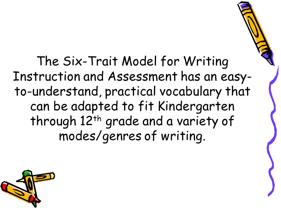 six-trait analytical writing assessment model