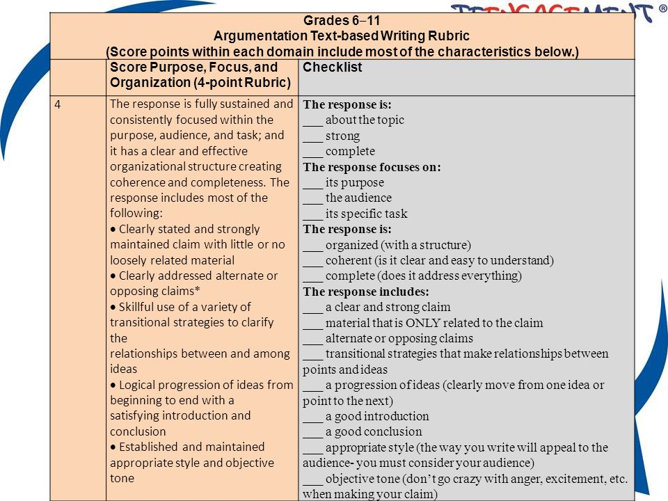 rubric for argumentation essay Rubric: argumentative essay argumentative essay (satisfactory) a=excellent (n/a) b=above average include argument, informative and narrative rubrics common core state standards writing rubrics for grades 9/10 by turnitin is licensed under a creative commons.
