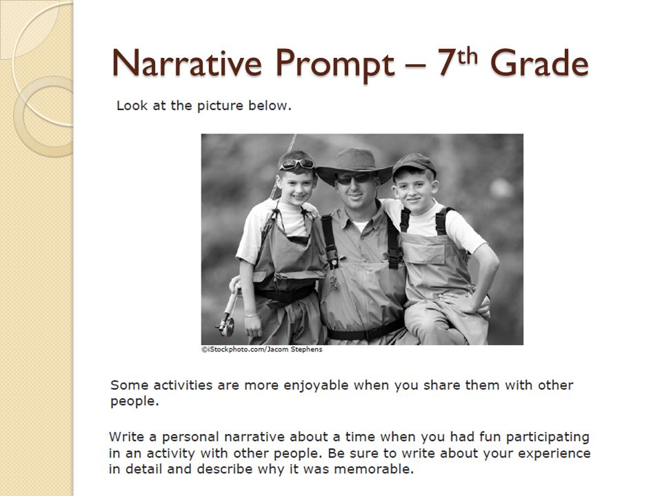 essay prompt 7th grade Writing prompts, student rubrics, and sample responses grade 6 the seventh-grade assessment is evaluated with the use of a holistic score scale and a.
