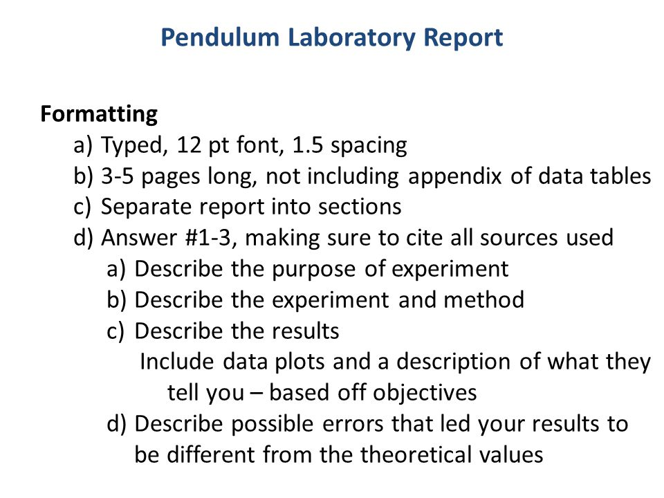 how to write pcr method report