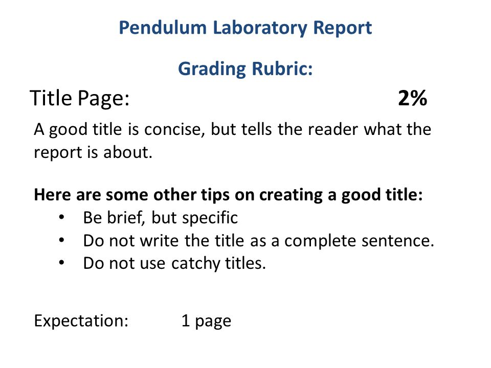 pendulum report Physics report - simple pendulum - free download as word doc (doc / docx), pdf file (pdf), text file (txt) or read online for free investigation of gravity and restoring force.