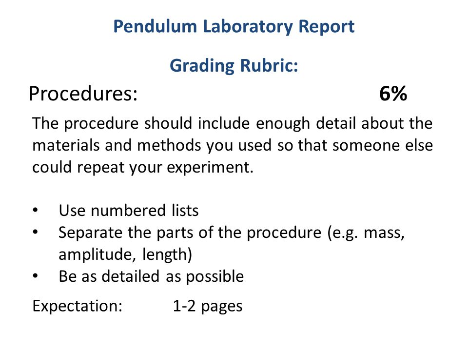 simple pendulum lab report And may not used in other web pages or reports without permission  a simple  pendulum consists of a mass m hanging from a string of length l and fixed at a.