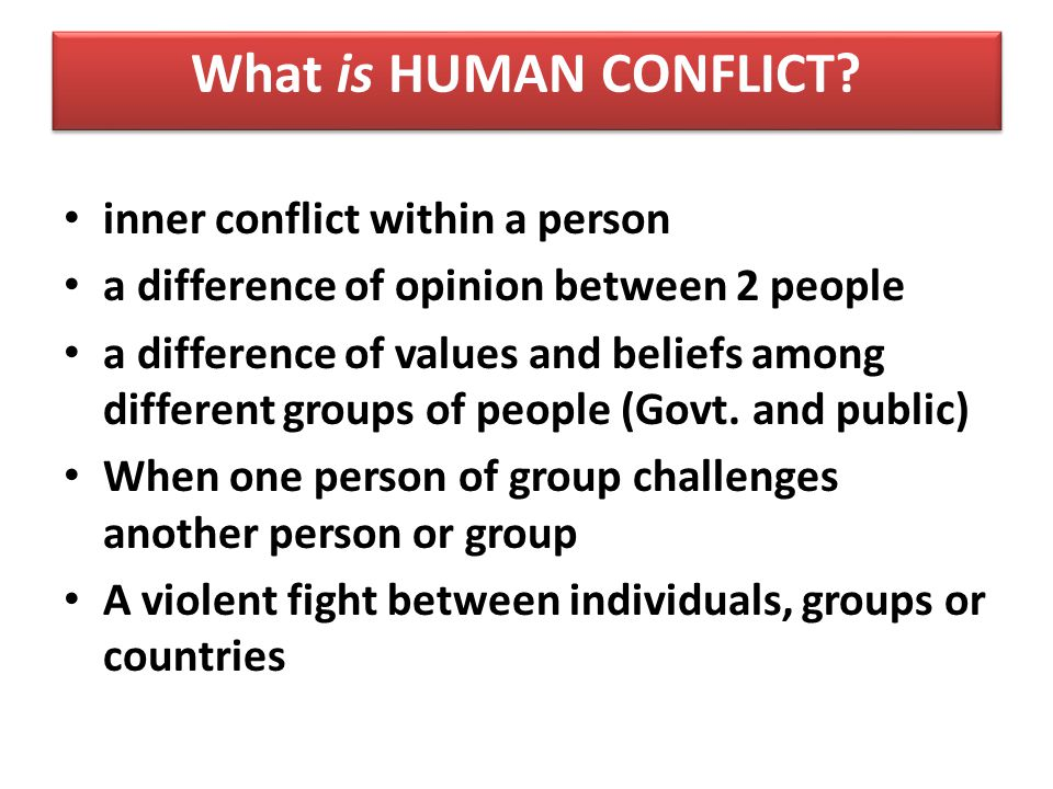 an analysis of conflict resolution in individuals and groups with different values and beliefs Role of attitude in conflict management conflict arises when individuals strongly oppose each other's opinions and views and are not willing to compromise with each other a conflict solves no problems it just creates tensions, anxiety and earns you a bad name.