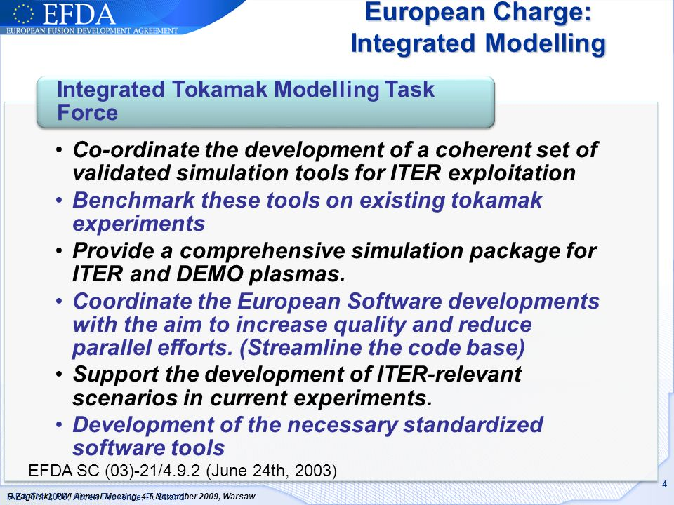 European Charge: Integrated Modelling