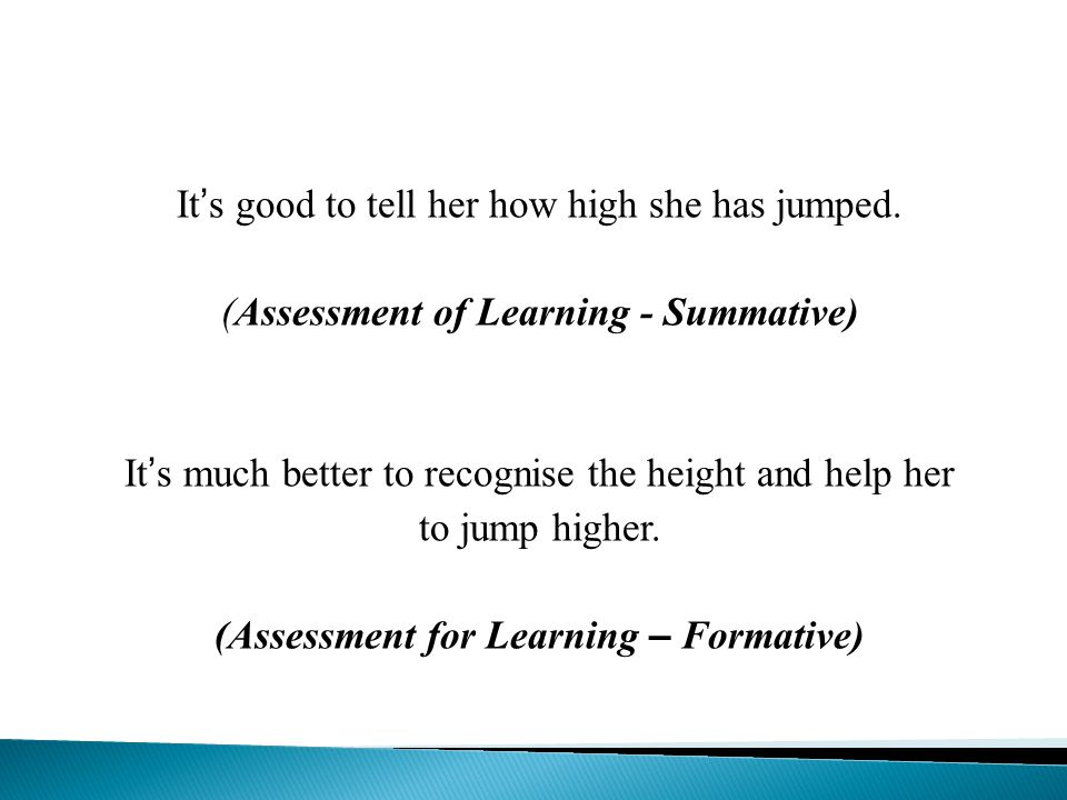 Support Assessment for Learning