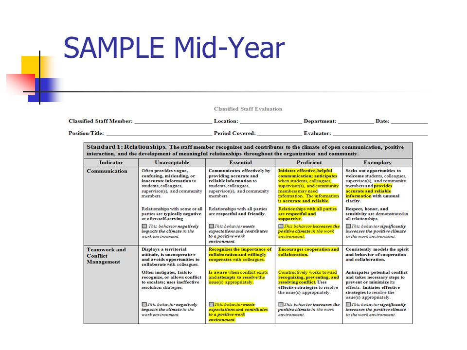Mid year reviews examples for Mid year review template