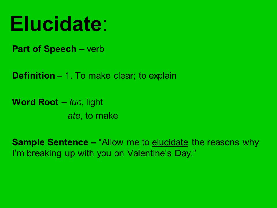 elucidating define Definition of elucidating in the legal dictionary - by free online english dictionary and encyclopedia what is elucidating meaning of elucidating as a legal term.