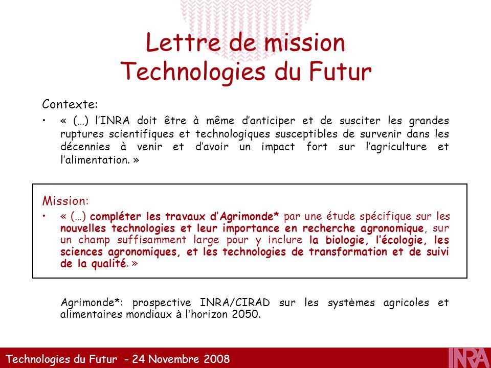 Lettre de mission Technologies du Futur