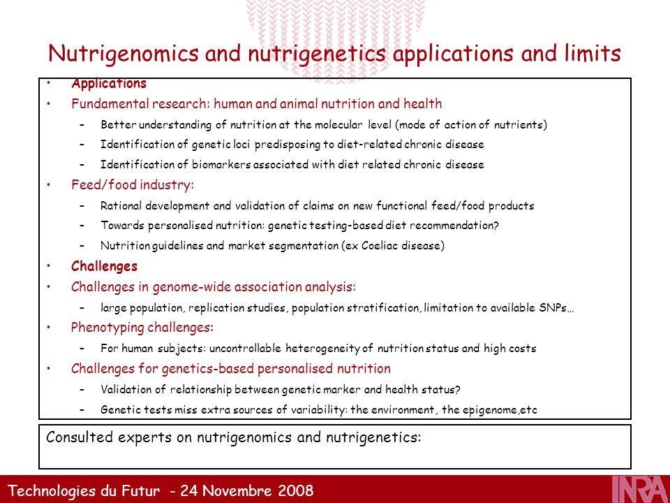Nutrigenomics and nutrigenetics applications and limits
