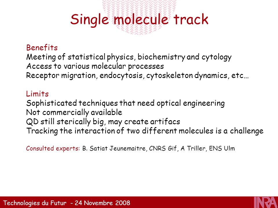 Single molecule track Benefits
