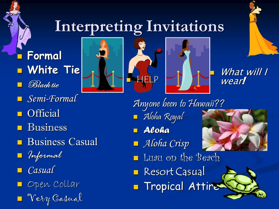 Interpreting Invitations