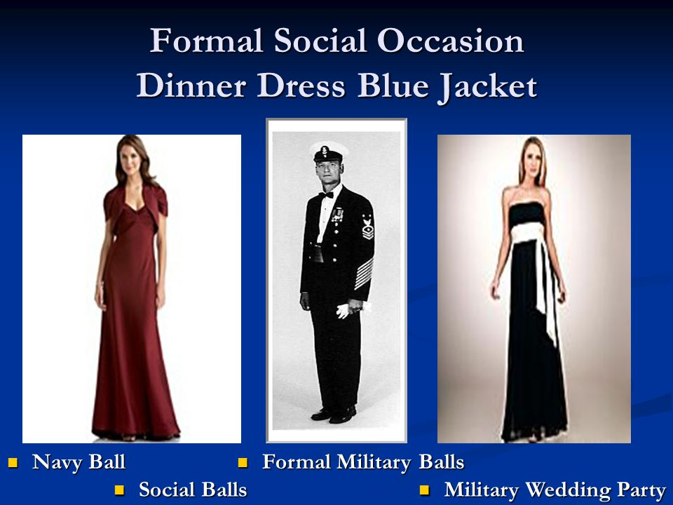 Formal Social Occasion Dinner Dress Blue Jacket
