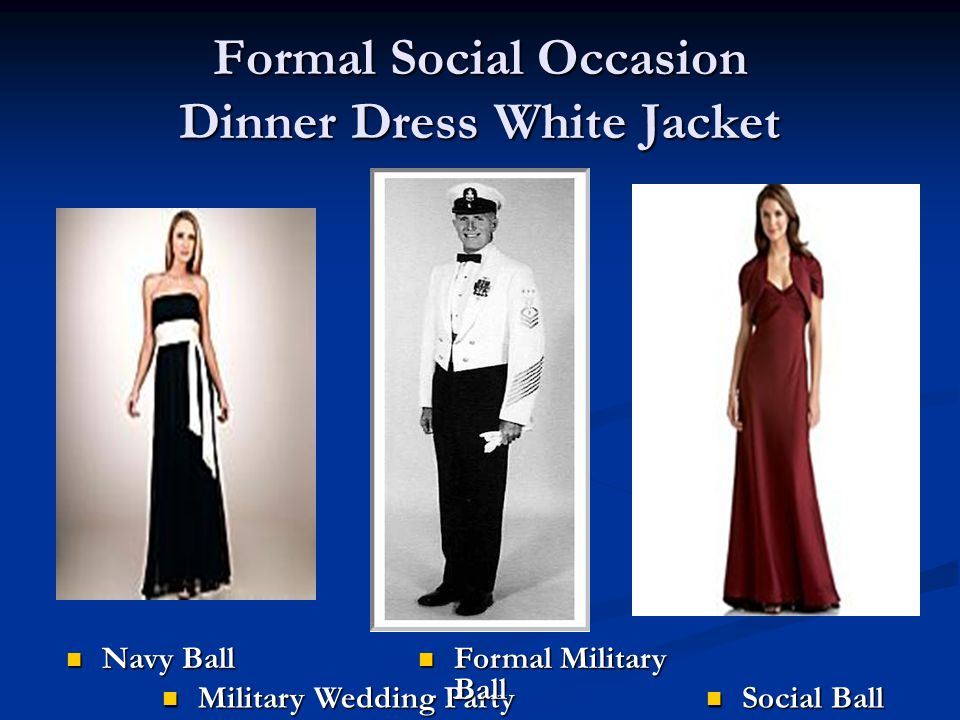 Formal Social Occasion Dinner Dress White Jacket