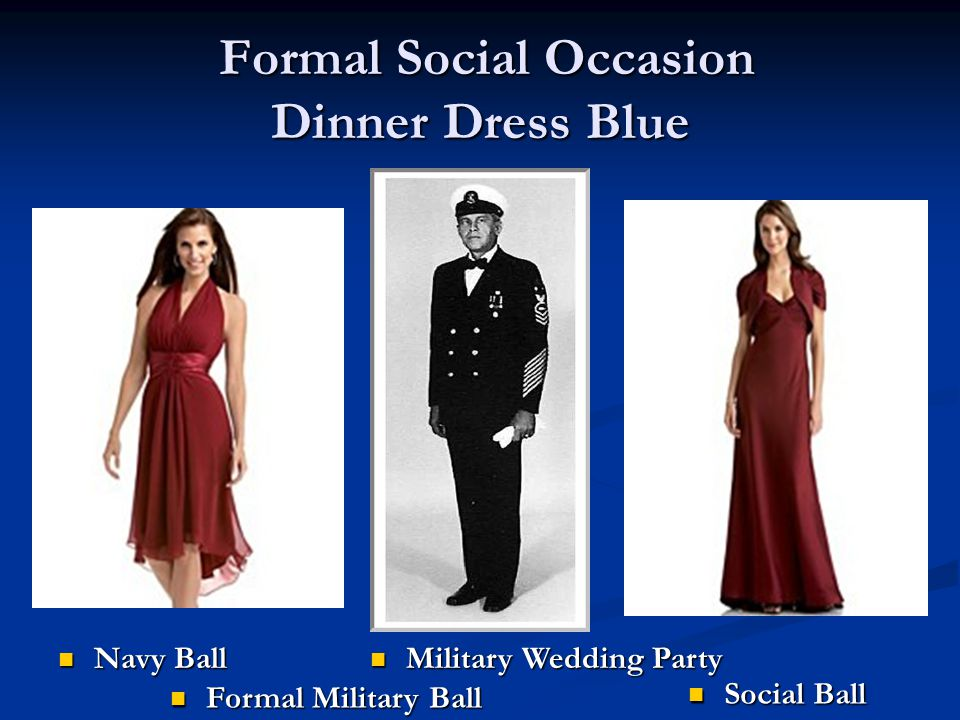 Formal Social Occasion Dinner Dress Blue
