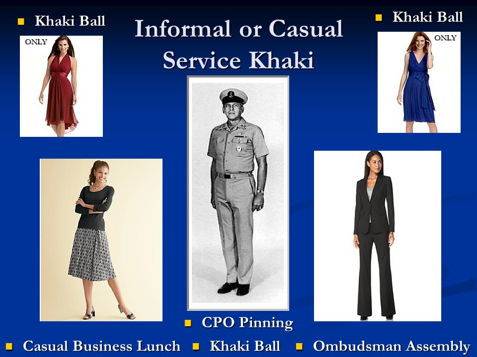 Informal or Casual Service Khaki