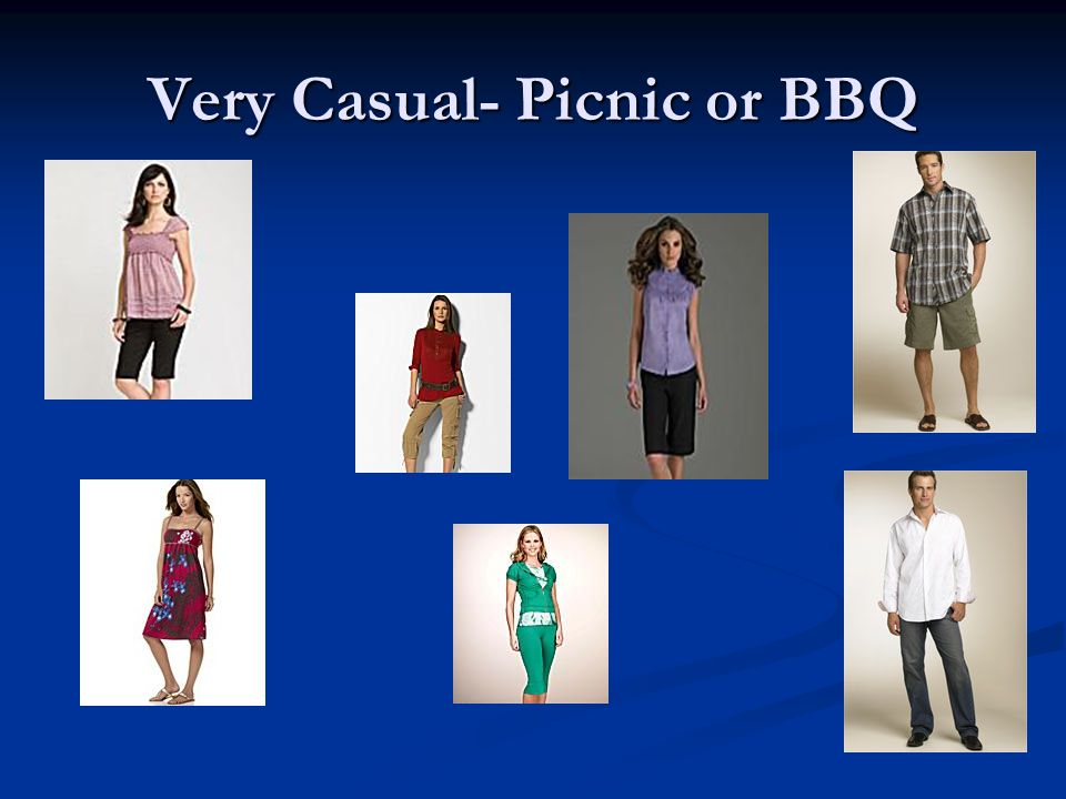 Very Casual- Picnic or BBQ