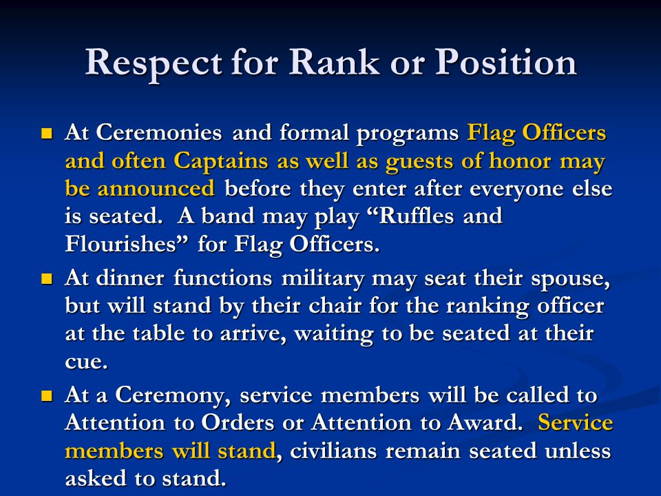 Respect for Rank or Position