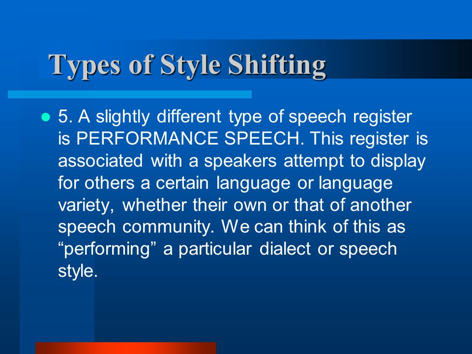a description of the different types of speeches Speech types and some examples during this course you will have to do a number of speeches this page explains about the four main types of speech.