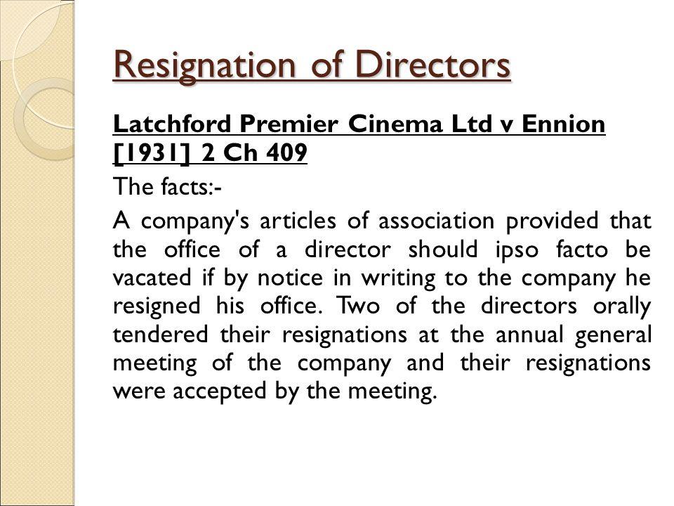 tendered resignation