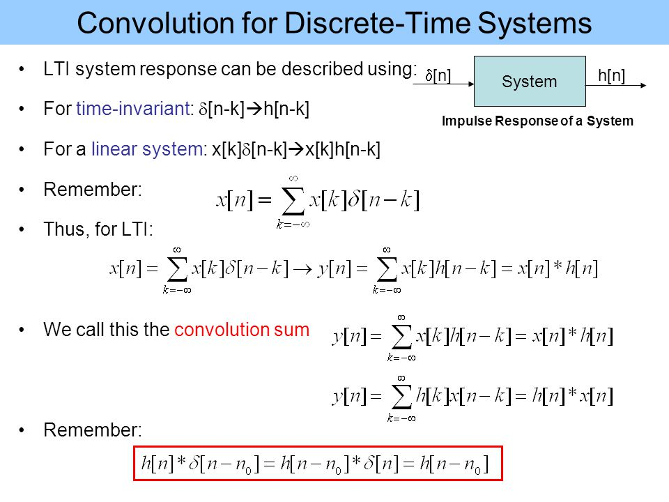 Discrete-Time Linear Time-Invariant Systems Sections - ppt ...