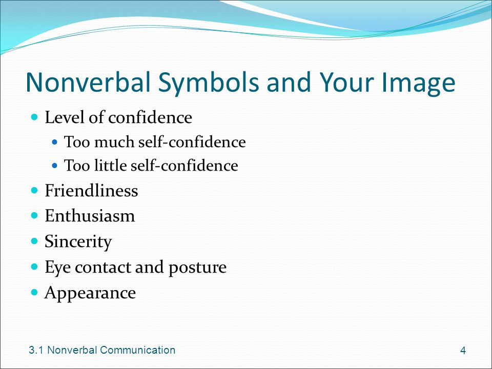 Nonverbal Symbols and Your Image