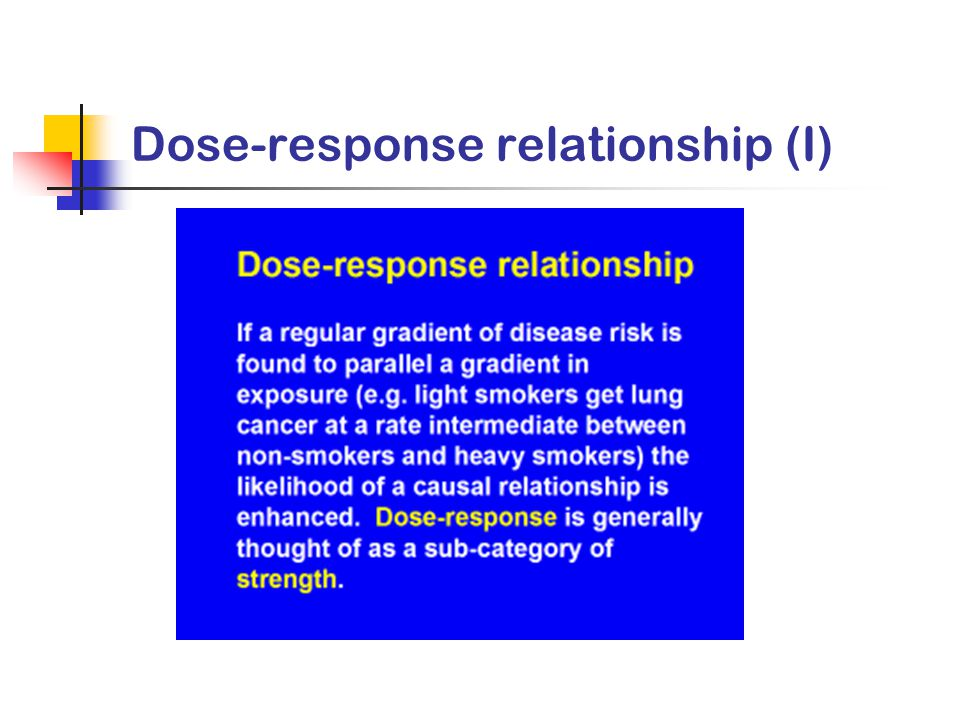 dose response relationship epidemiology and infection
