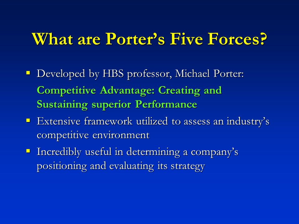 how the porter s 5 forces apply to fast food industry Free essay: porter's five forces analysis of the fast food industry complete a porter's five forces analysis of the fast food industry and for each of the 4.