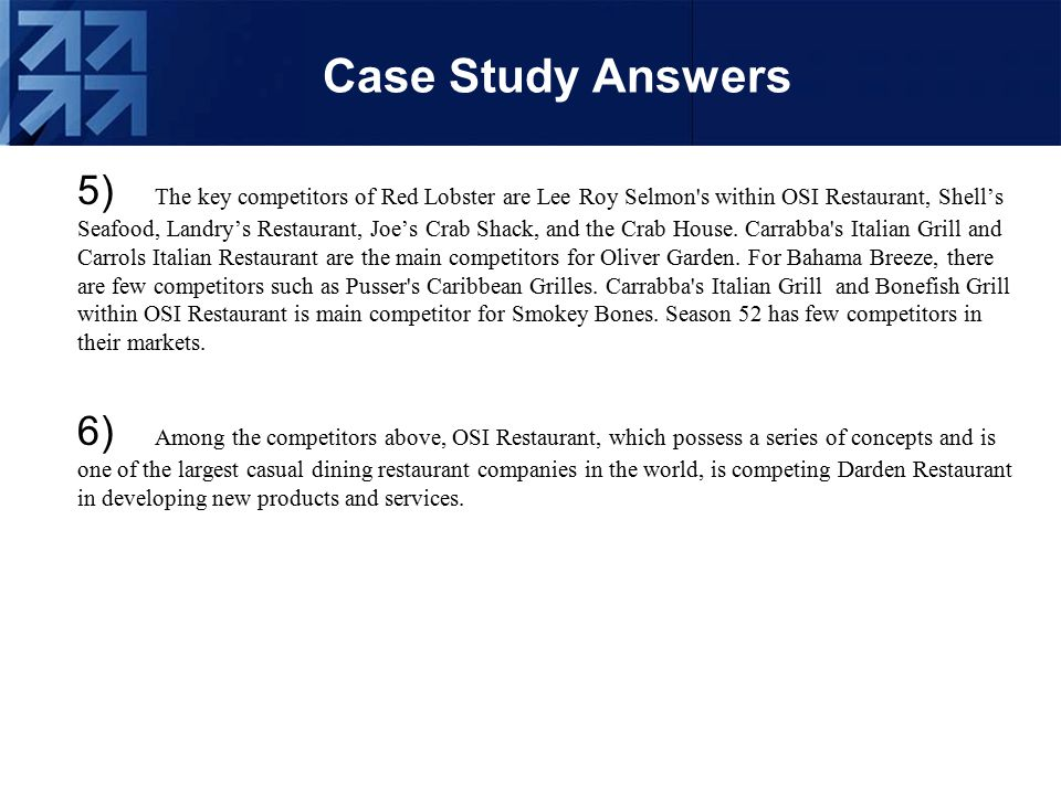 red lobster case study Marketing case study example red lobsterpdf free pdf download now source #2: marketing case study example red lobsterpdf free pdf download.