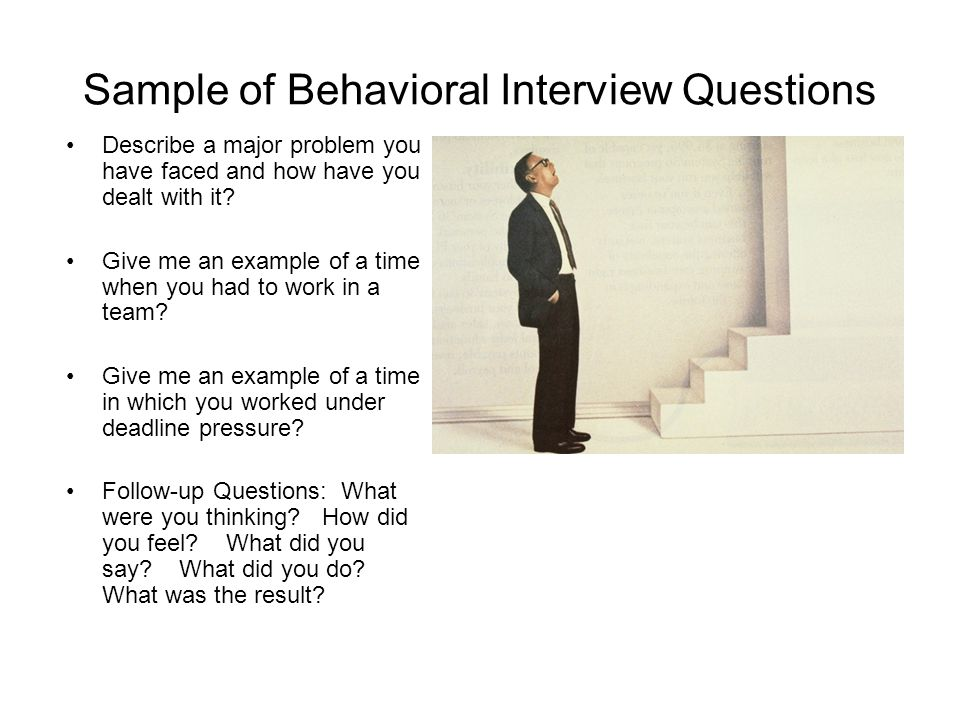 behavioral interview questions critical thinking