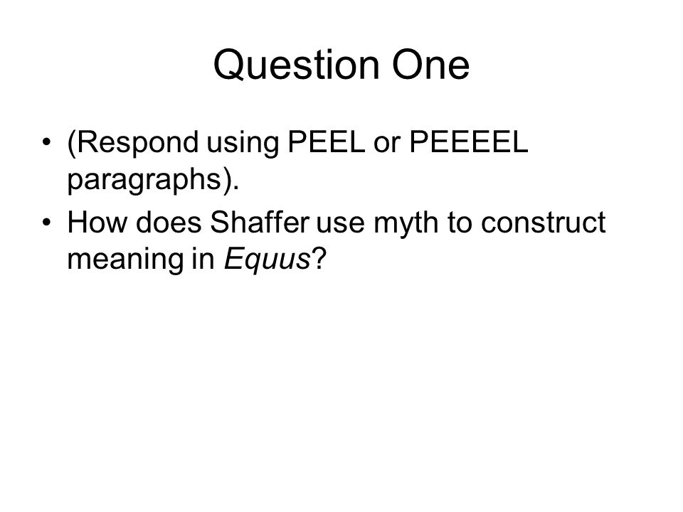 an examination of the use of language in equus A website for the state of california, department of consumer affairs, speech-language pathology and audiology board, and hearing aid dispensers bureau.