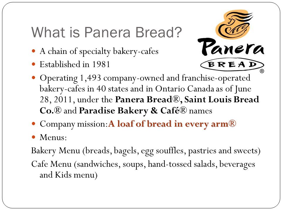 panera bread industry analysis