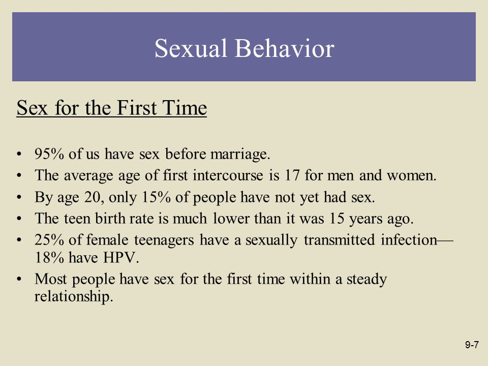 Average number of sexual partners before marriage