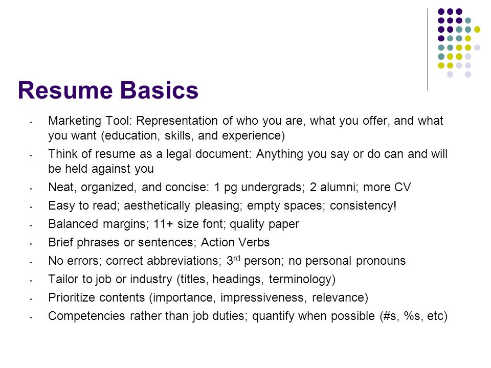 your resume  interviewing  and henaac